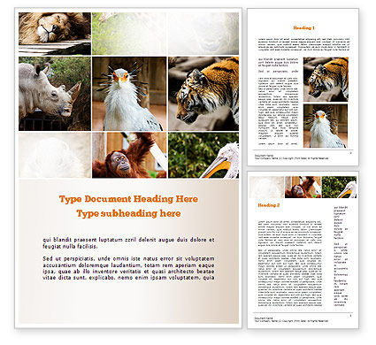 Nature & Environment: Wild Animals Word Template #11024