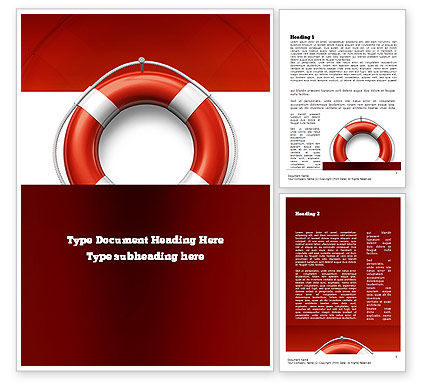 Lifebuoy Word Template, 11028, Careers/Industry — PoweredTemplate.com