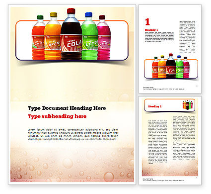 Cola Word Template, 11032, Food & Beverage — PoweredTemplate.com