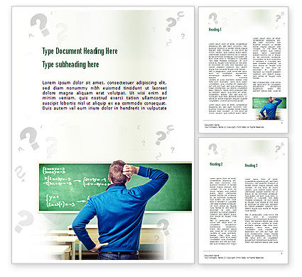 Education & Training: Solving Equation Word Template #11034