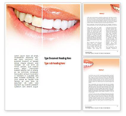 Teeth Whitening Word Template, 11036, Medical — PoweredTemplate.com