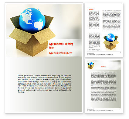 Global Supply Word Template, 11037, Careers/Industry — PoweredTemplate.com