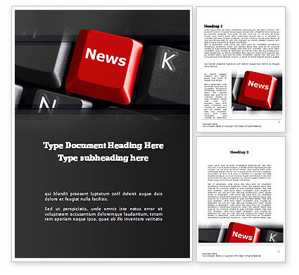 Online Newsletter Word Template