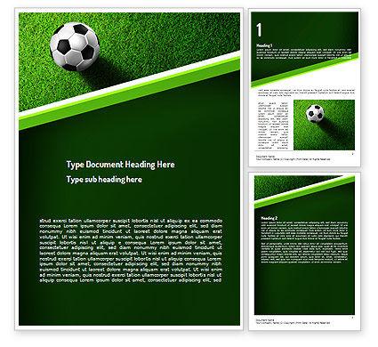 Soccer Ball Near Line Word Template, 11039, Sports — PoweredTemplate.com