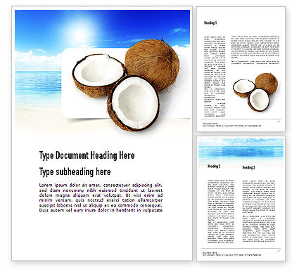 Coconut Word Template, 11042, Careers/Industry — PoweredTemplate.com
