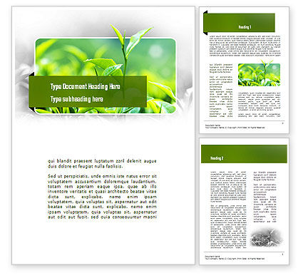 Green Presentation Word Template, 11044, Nature & Environment — PoweredTemplate.com