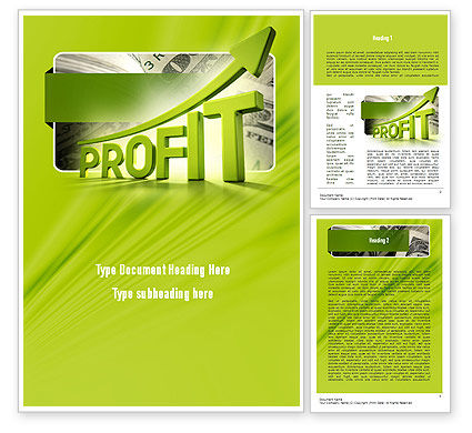 Profit Growth Word Template, 11049, Business Concepts — PoweredTemplate.com