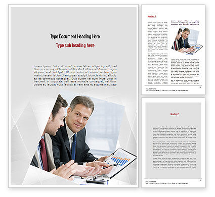 Financial Manager Word Template, 11051, Financial/Accounting — PoweredTemplate.com