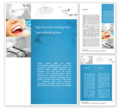 Medical: Dental Care Word Template #11057