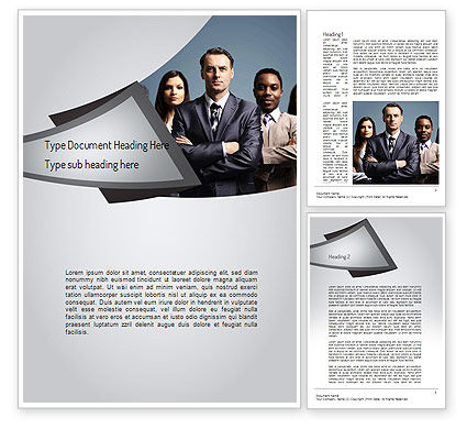 Business: Business People Word Template #11068