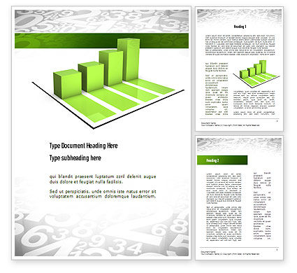 Careers/Industry: Statistics Word Template #11071