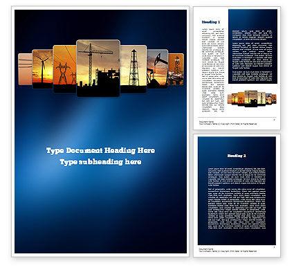 Utilities/Industrial: Industries Word Template #11076