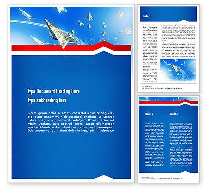 America: 强制飞机从美元Word模板 #11079