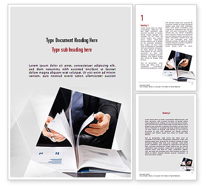 Business Report Word Template, 11080, Business — PoweredTemplate.com