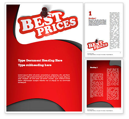 Careers/Industry: Best Prices Word Template #11081