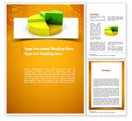 Colorful 3D Pie Chart Word Template, 11083, Business Concepts — PoweredTemplate.com