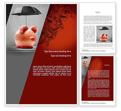 Savings Under Umbrella Word Template, 11084, Financial/Accounting — PoweredTemplate.com