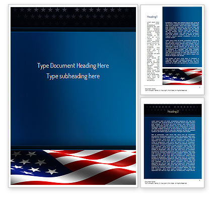America Stand Strong Word Template, 11090, America — PoweredTemplate.com