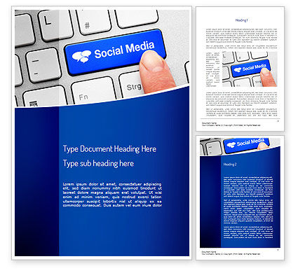 Telecommunication: Social Media Keyboard Word Template #11100