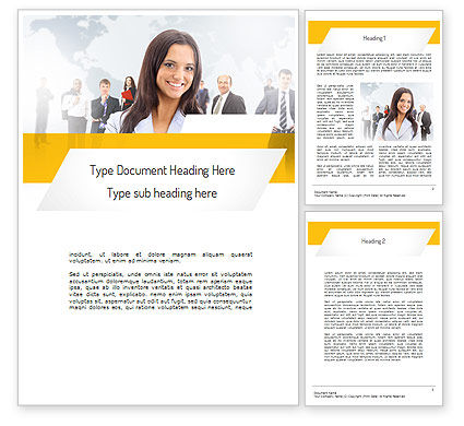 Business Woman Word Template