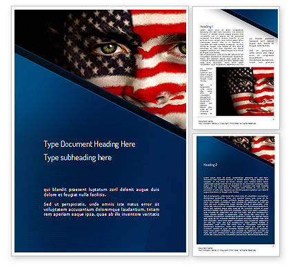Deferred Action Word Template, 11111, America — PoweredTemplate.com