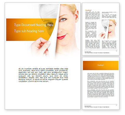 Skin Renewal Word Template, 11112, Careers/Industry — PoweredTemplate.com