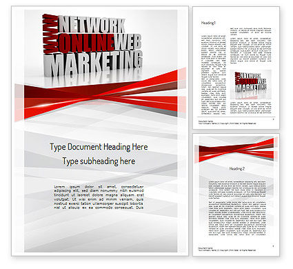 Careers/Industry: Web Marketing Word Template #11113