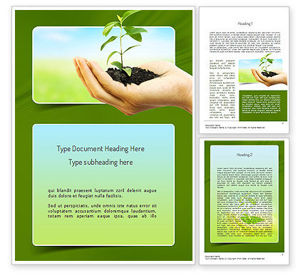 Nature & Environment: Environmental Conservation Word Template #11117