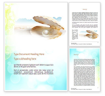 Careers/Industry: Pearl in the Shell Word Template #11134