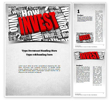 Investments Word Template, 11136, Financial/Accounting — PoweredTemplate.com