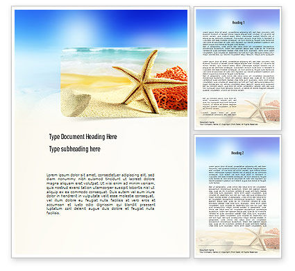 Holiday/Special Occasion: Summer Theme Word Template #11139