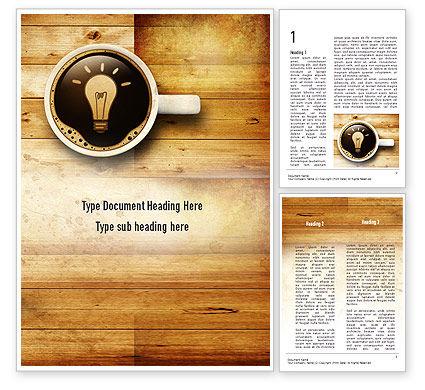 Creative Idea Word Template, 11142, Business Concepts — PoweredTemplate.com