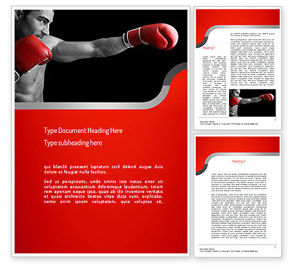 Sports: Kickboxer Word Template #11156