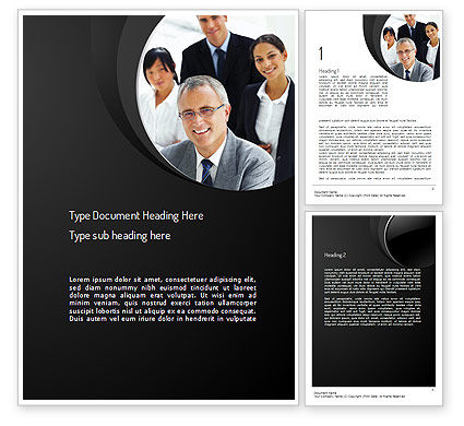 Consultancy Services Word Template, 11162, Consulting — PoweredTemplate.com