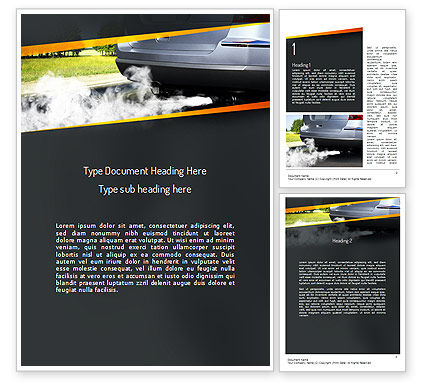 Nature & Environment: Car Exhaust Word Template #11169
