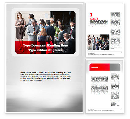 Business: Business Relationships Word Template #11171