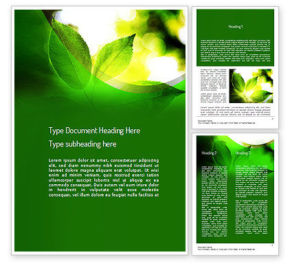 Nature & Environment: Ecology Theme Word Template #11175