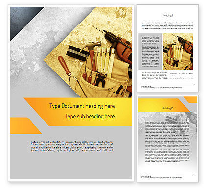 Utilities/Industrial: Construction Tools Word Template #11186