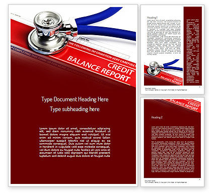 Medical: Credit Balance Report Word Template #11187