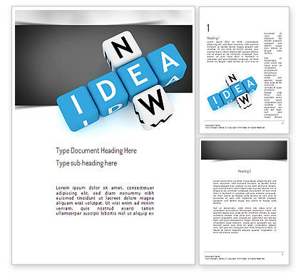 New Idea Crossword Word Template