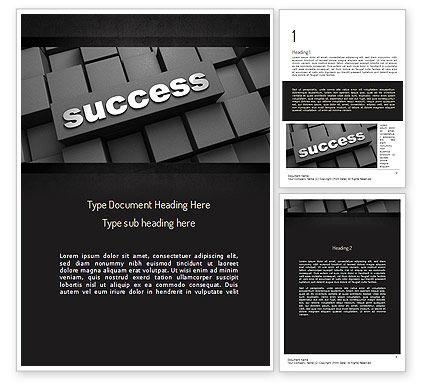 Business Concepts: 워드 템플릿 - 블록에 대한 성공 가능성 #11194