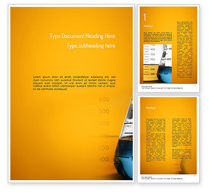 Flask Word Template, 11198, Technology, Science & Computers — PoweredTemplate.com