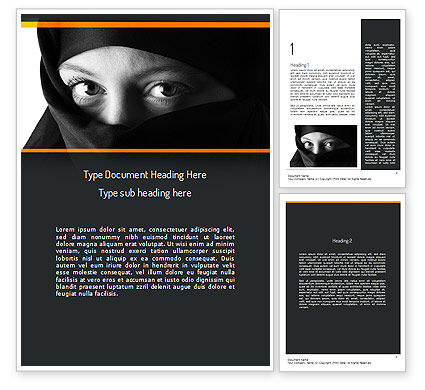 Mystical Eyes Word Template, 11203, People — PoweredTemplate.com