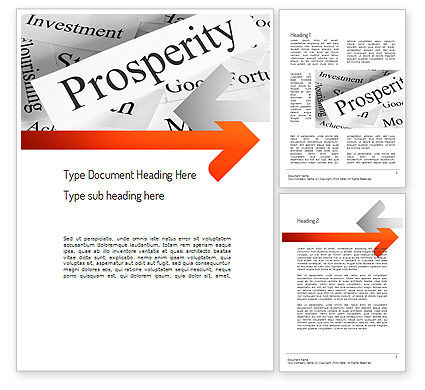 Prosperity Word Template, 11207, Business Concepts — PoweredTemplate.com