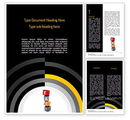 Business Concepts: Gemakkelijk Blokken Word Template #11209