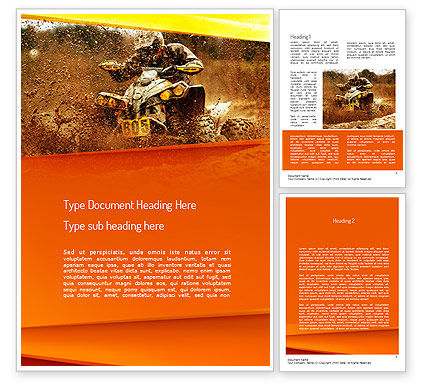 ATV Racing Word Template, 11210, Sports — PoweredTemplate.com