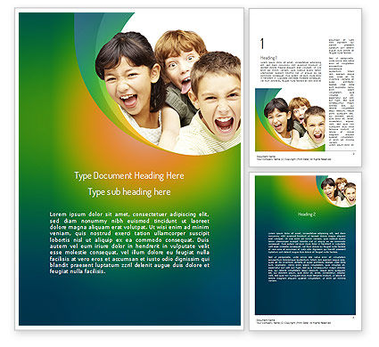 Kids Have Fun Word Template, 11211, People — PoweredTemplate.com