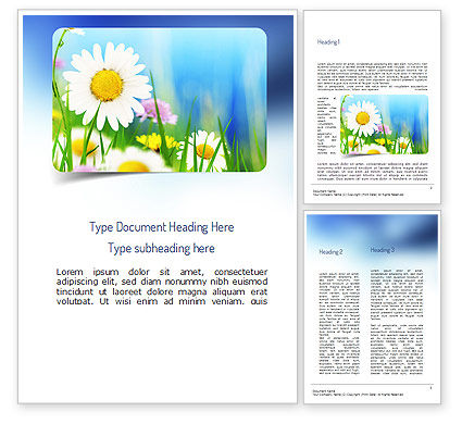 Nature and Beauty Word Template, 11214, Nature & Environment — PoweredTemplate.com