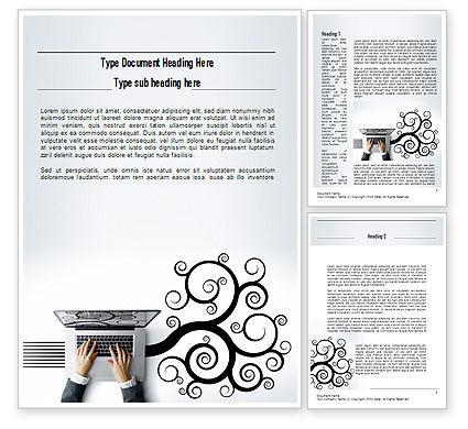 Business Creativity Word Template, 11218, Business — PoweredTemplate.com
