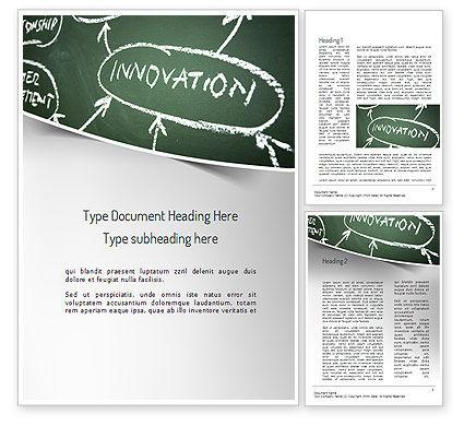 Innovation Mind Map Word Template, 11220, Business Concepts — PoweredTemplate.com